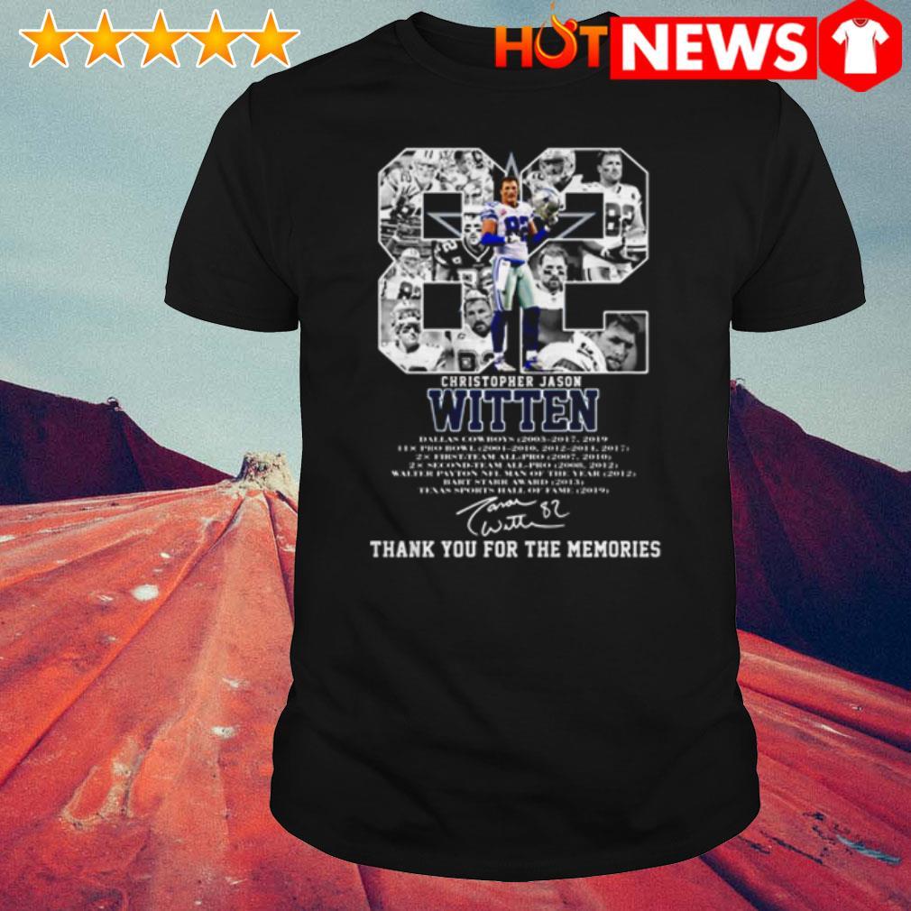 Thank you for the memories 82 Christopher Jason Witten signature shirt