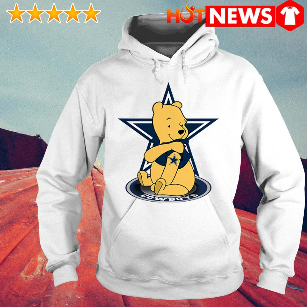 Winnie the Pooh loves Dallas Cowboys Hoodie