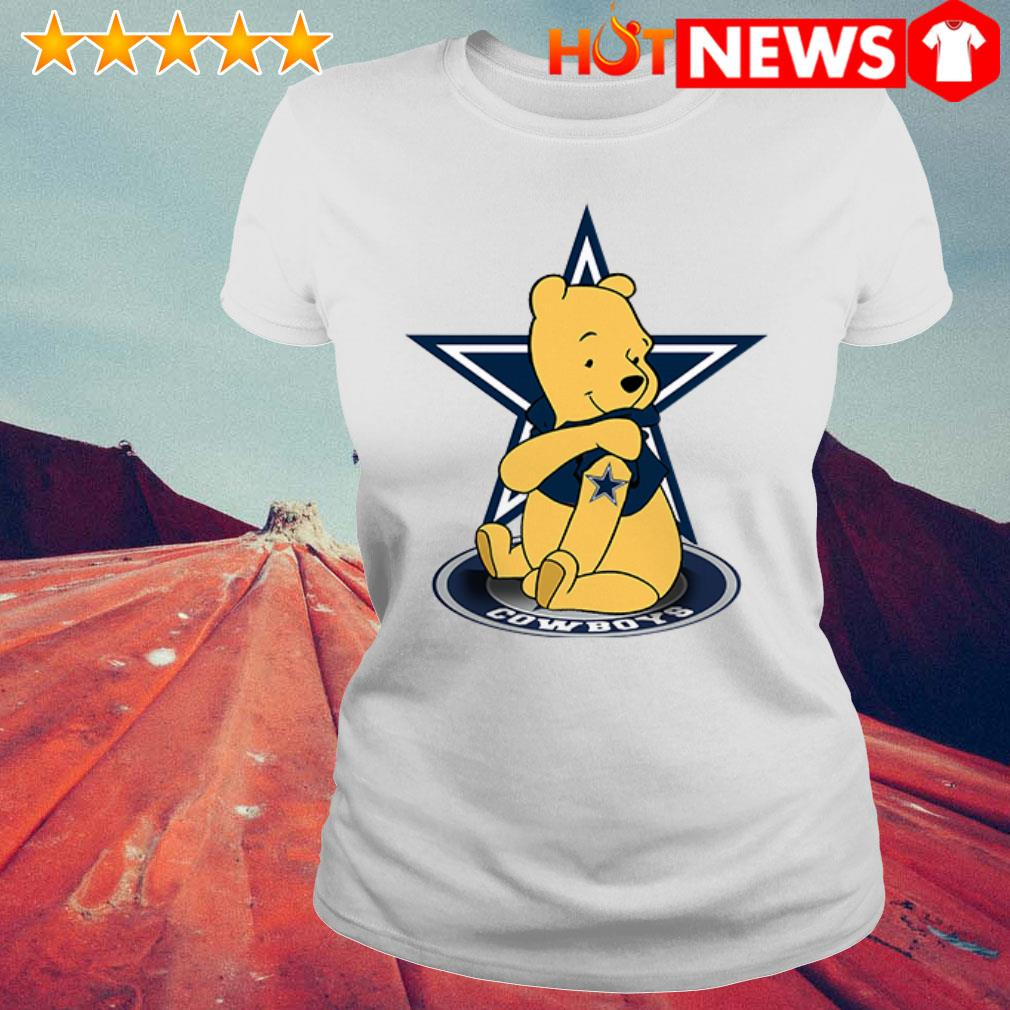 Winnie the Pooh loves Dallas Cowboys Ladies Tee