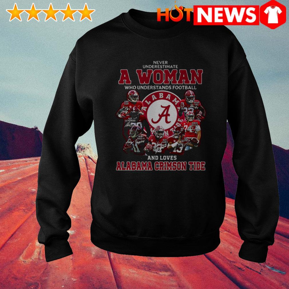Alabama Crimson Tide never underestimate a woman who understands football Sweater