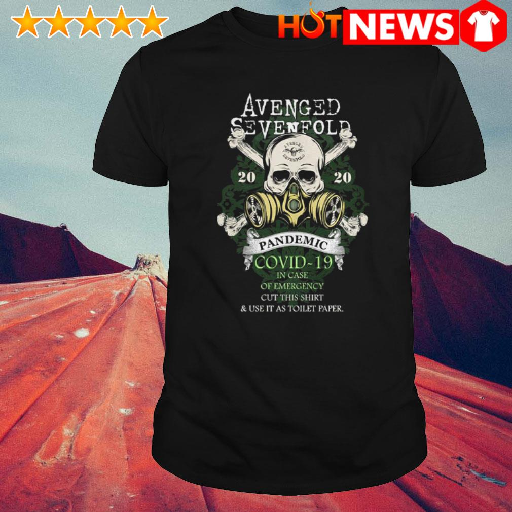 Avenged Sevenfold 2020 Pandemic Covid-19 in case of emergency cut this shirt