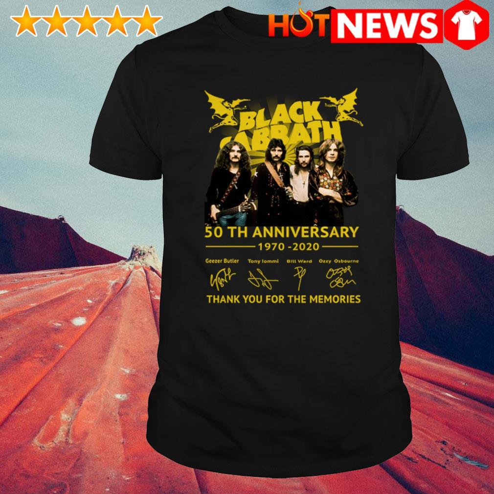 Black Sabbath 50th anniversary 1970-2020 all members signatures shirt
