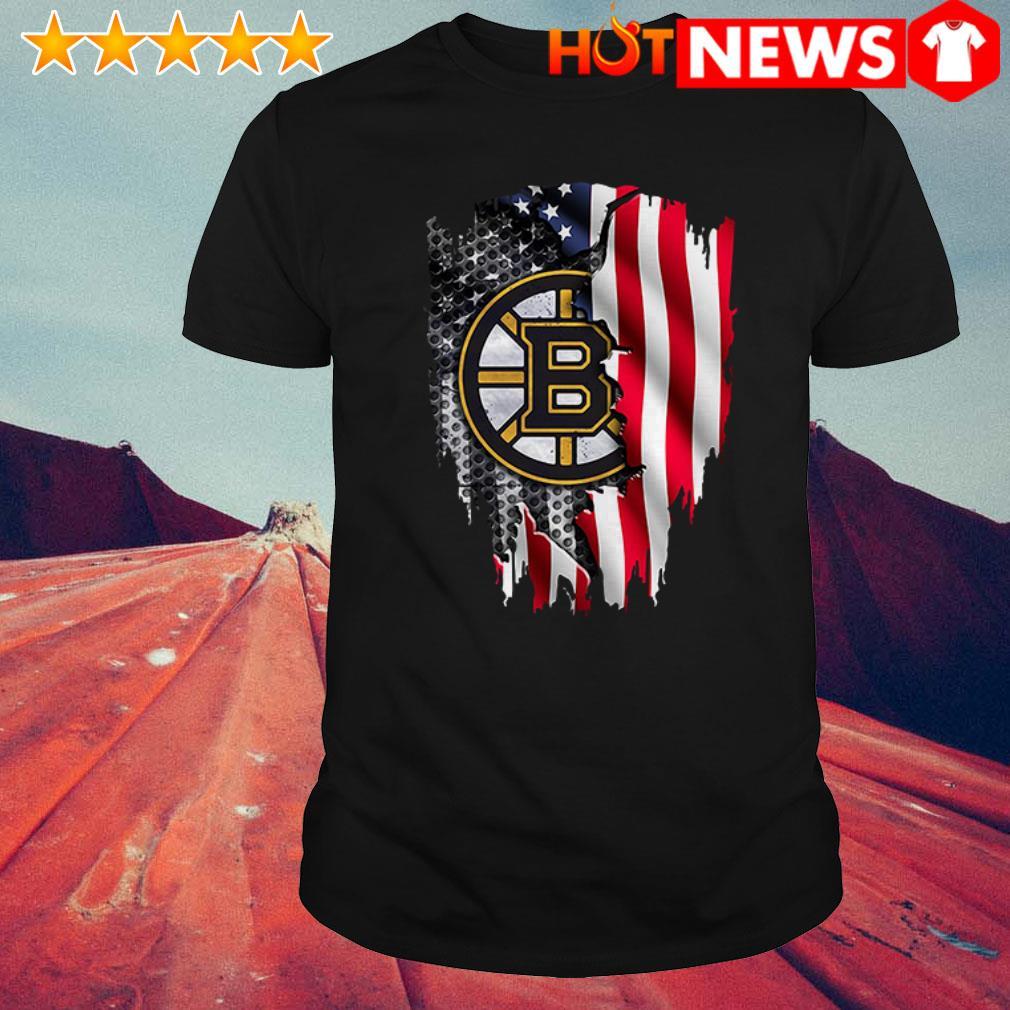 Boston Bruins USA Flag shirt