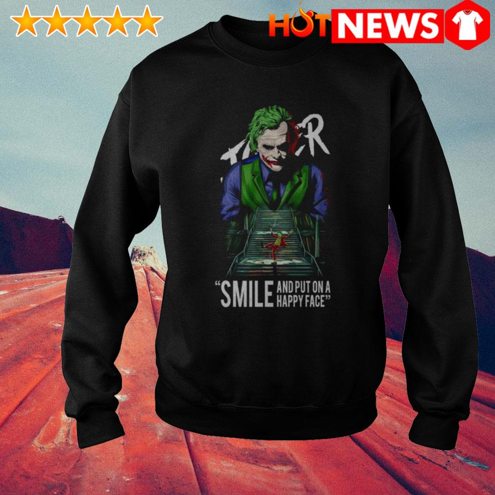 Joker Joaquin Phoenix Smile and put on a happy face Sweater