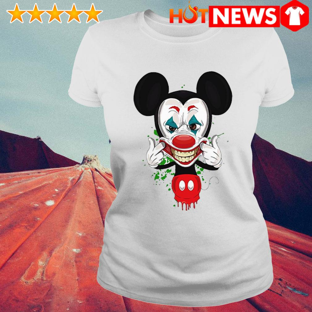 Mickey Mouse Joker face Ladies Tee