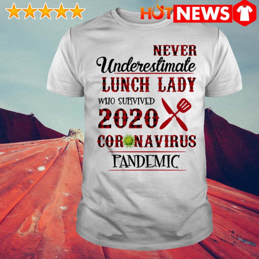 Never underestimate lunch lady 2020 coronavirus pandemic shirt