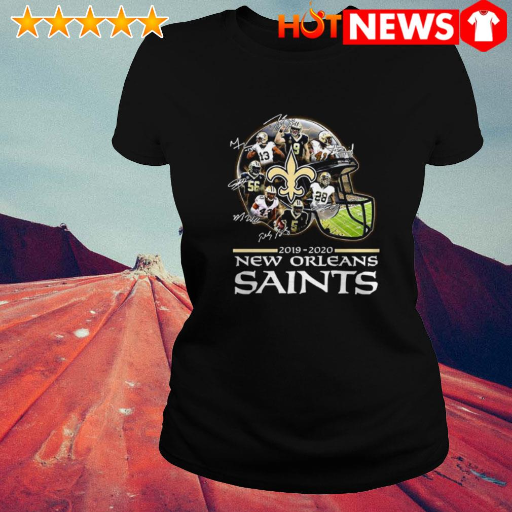 New Orleans Saints 2019-2020 signatures Ladies Tee