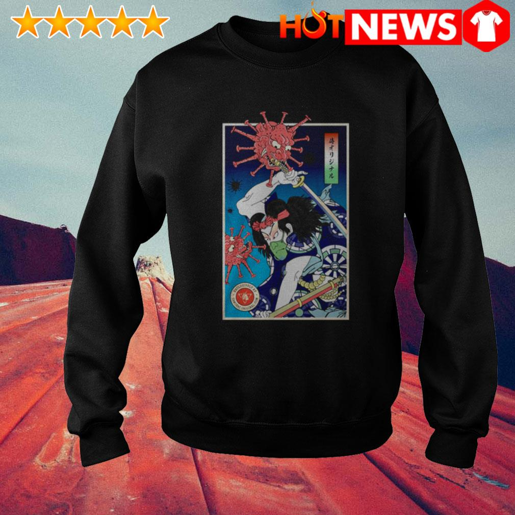 Samurai Vs Virus demon COVID-19 Sweater