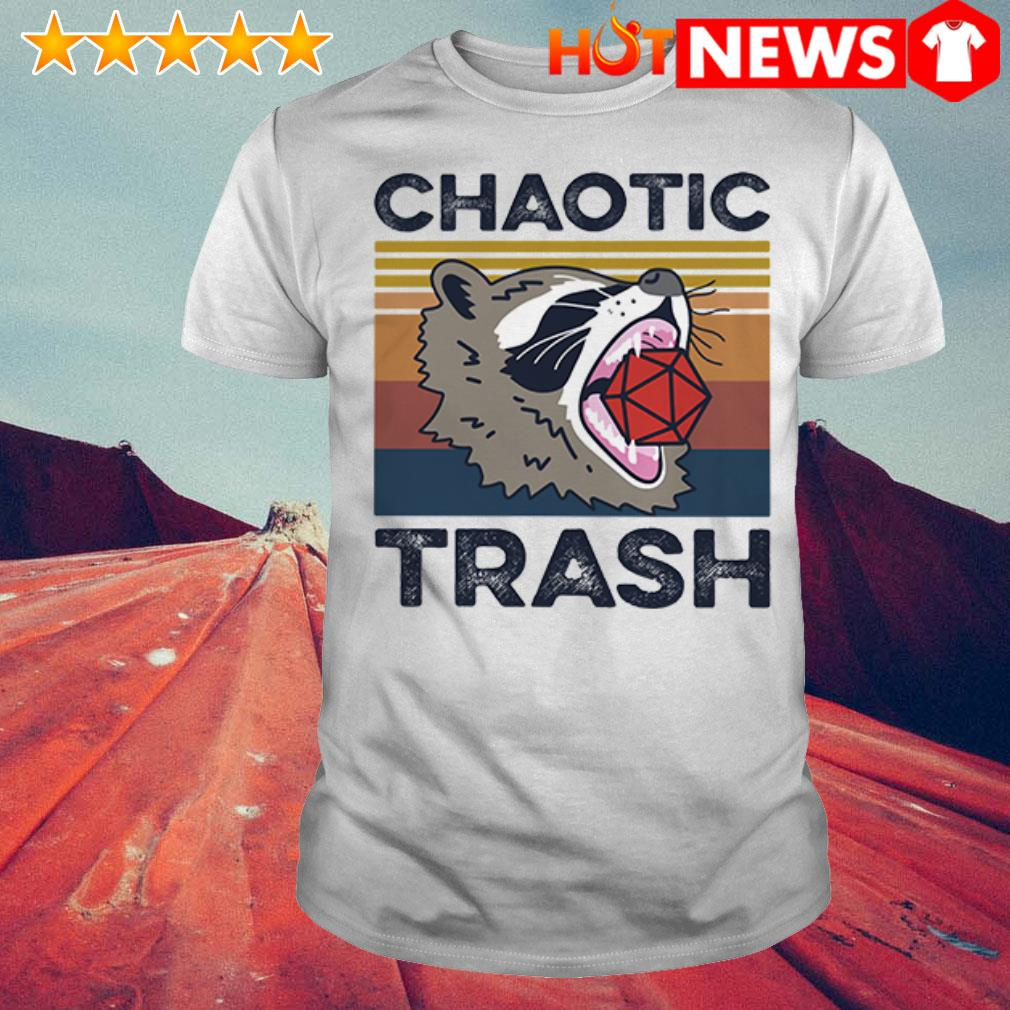 Vintage Chaotic Trash Game Raccoon shirt