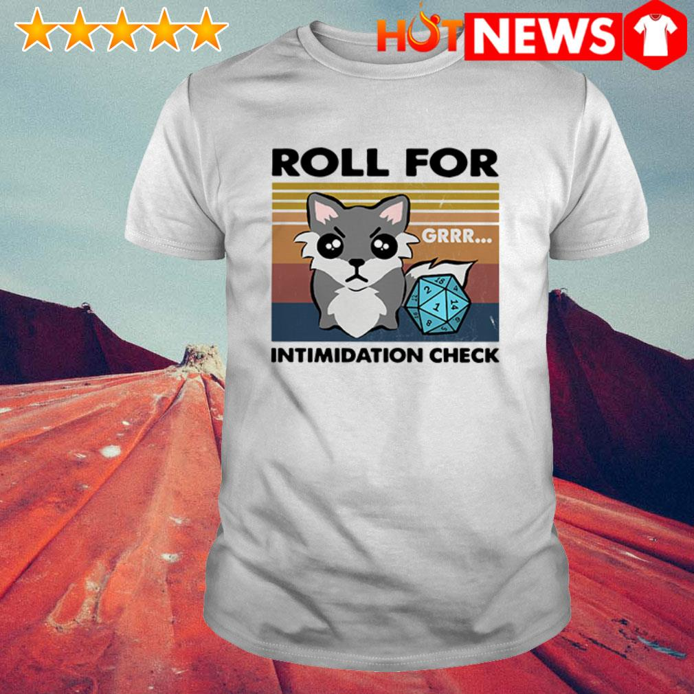 Vintage Roll for intimidation check shirt
