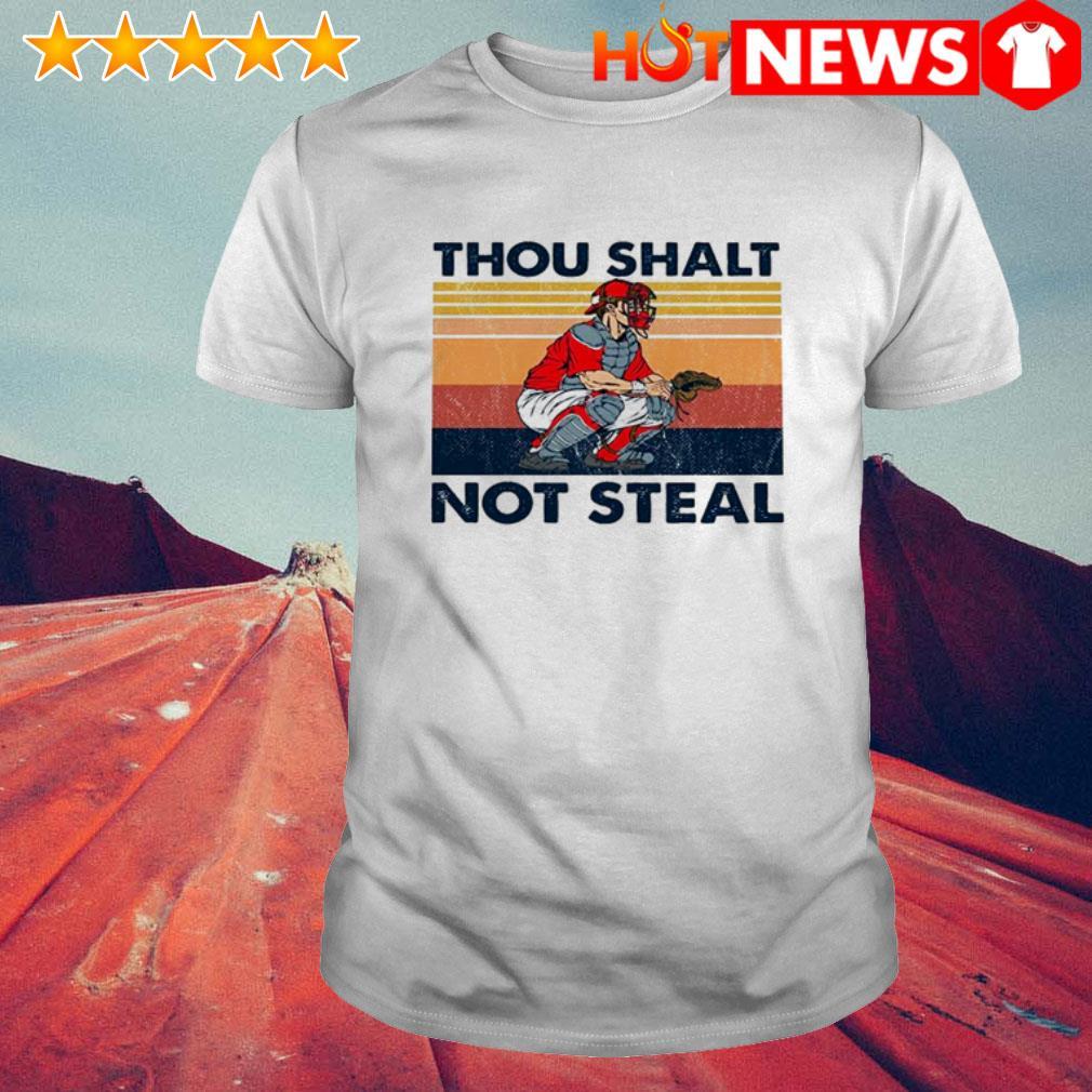 Baseball Catcher Thou shalt not steal vintage shirt