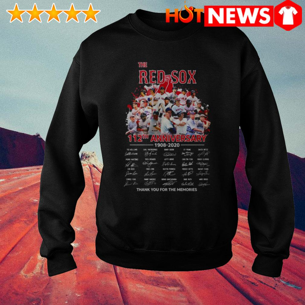 Boston Red Sox 112th Anniversary 1908-2020 team players signatures Sweater