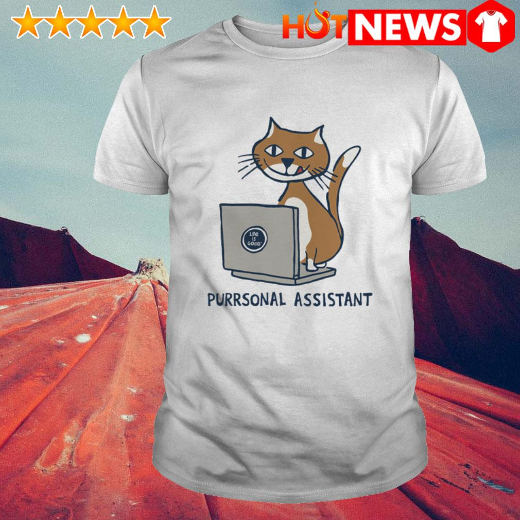 Cat and laptop purrsonal assistant working at home shirt