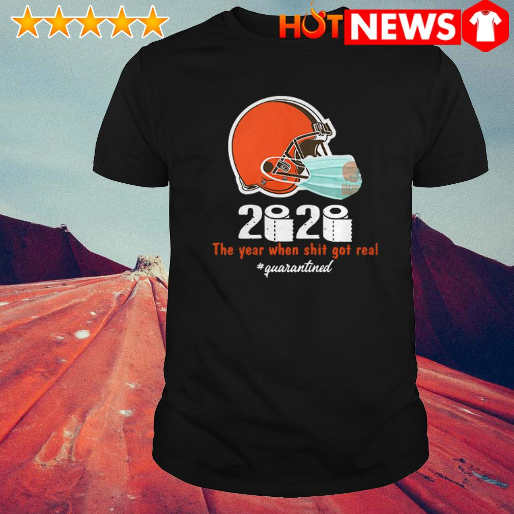 Cleveland Browns toilet paper 2020 the year when shit got real #quarantined shirt