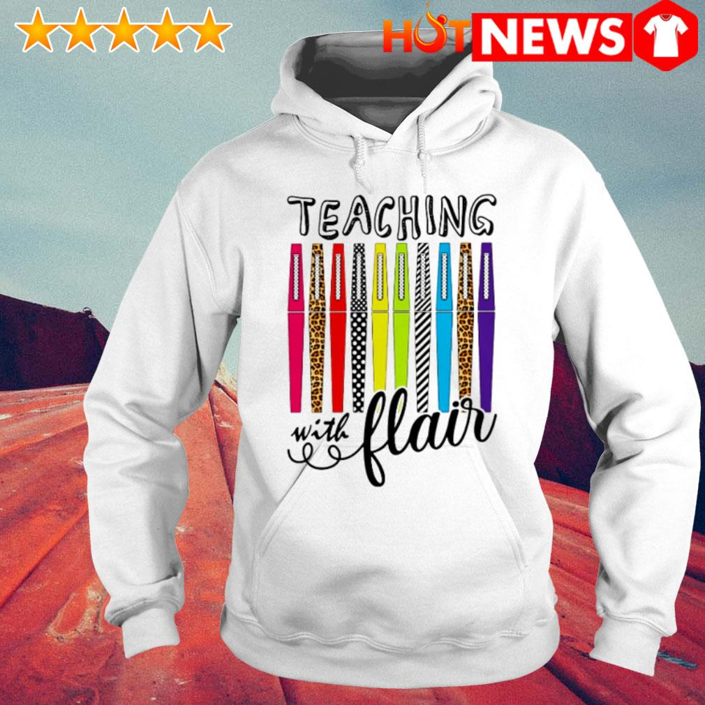 Great teaching with flair color pens Hoodie