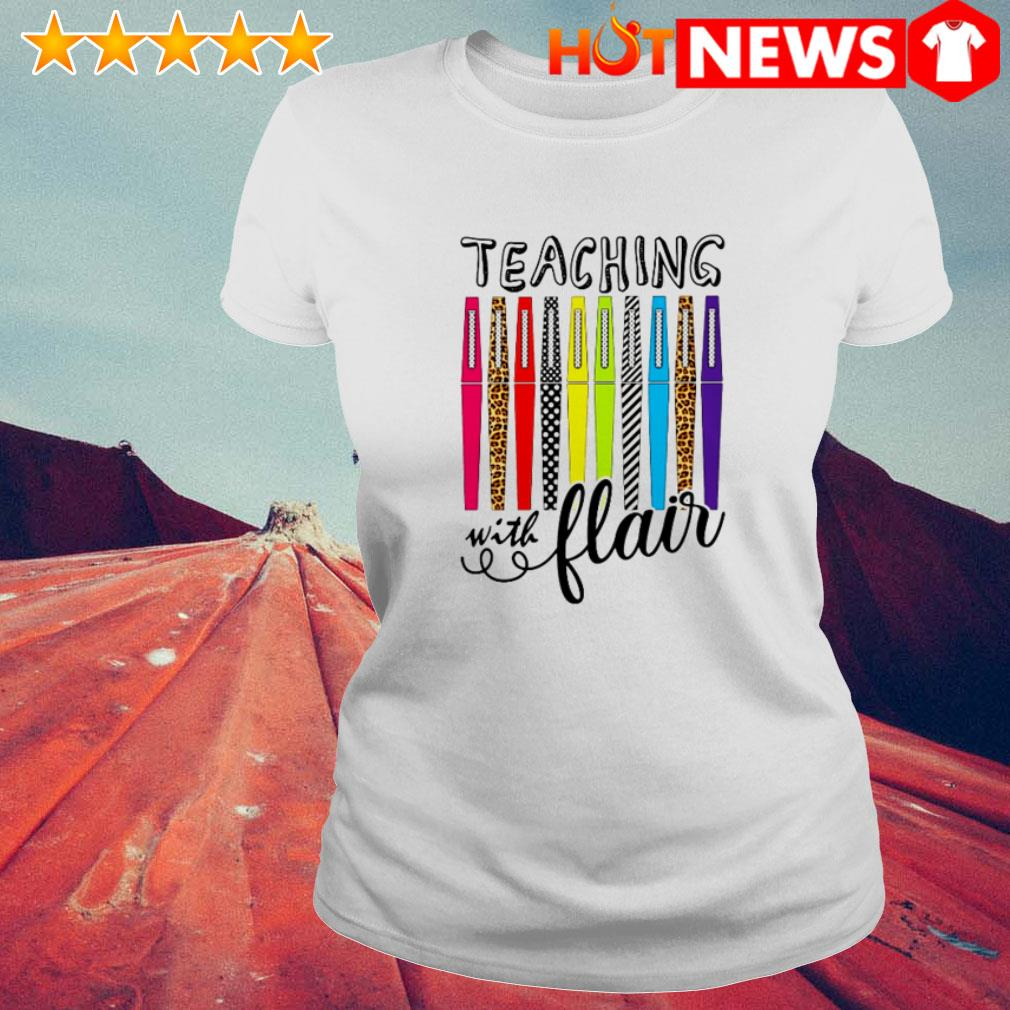 Great teaching with flair color pens Ladies Tee