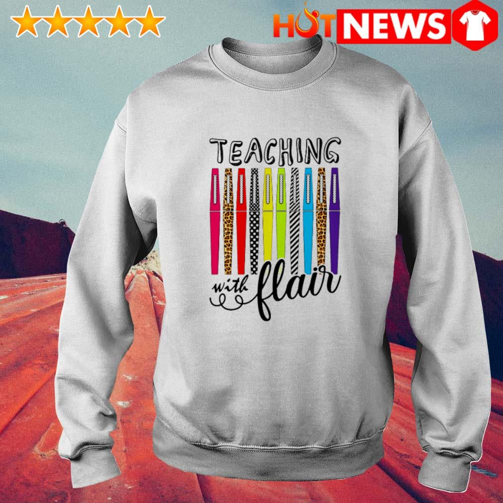 Great teaching with flair color pens Sweater