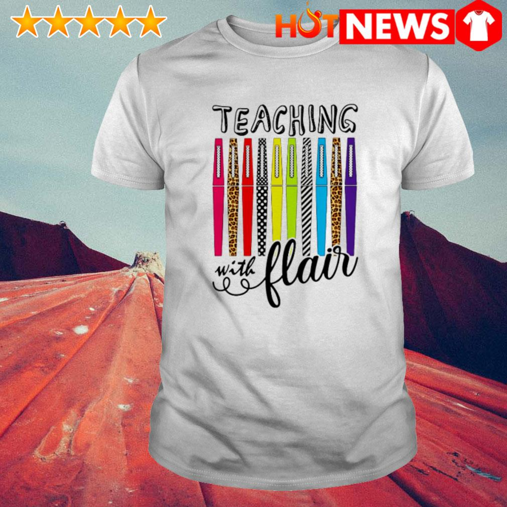 Great teaching with flair color pens shirt