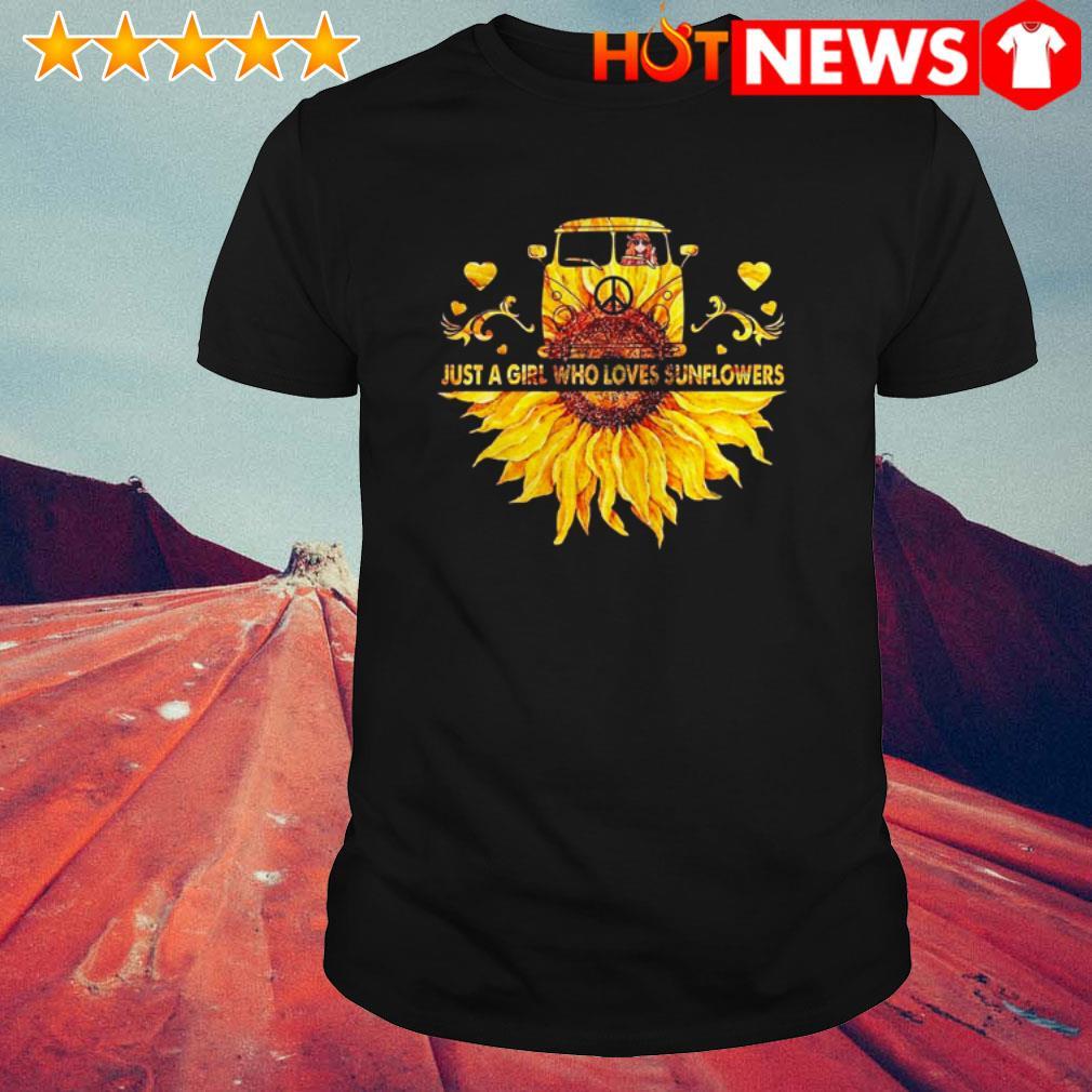 Hippie car just a girl who loves sunflower shirt