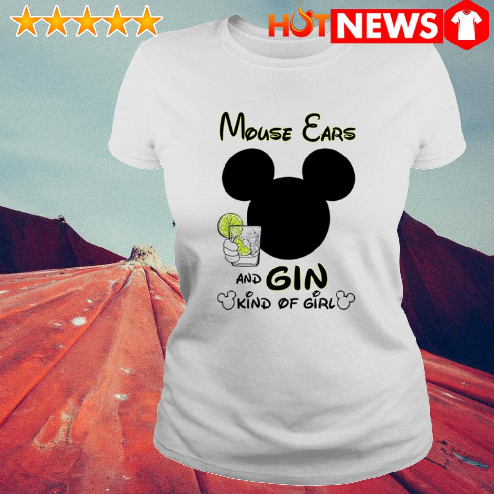 Mouse ears and gin kinds of girl Ladies Tee