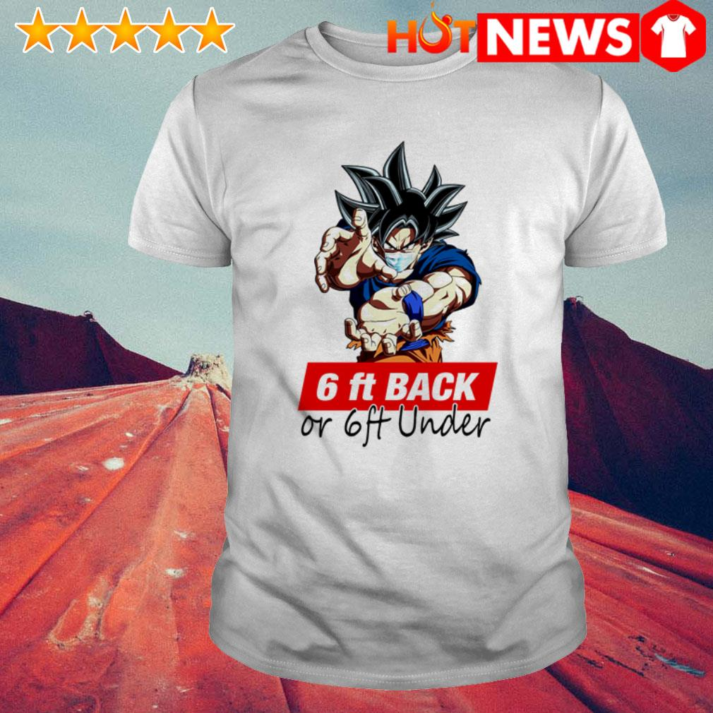 Son Goku face mask 6ft back or 6ft under COVID-19 shirt