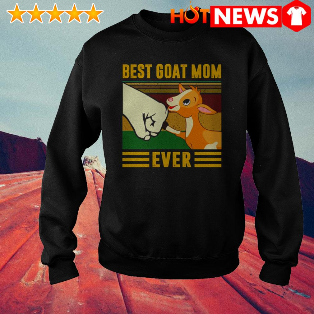 Vintage best goat mom ever mother's day Sweater