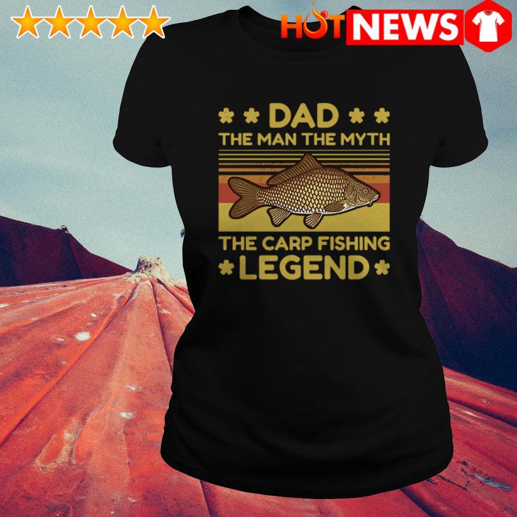 Vintage The carp fishing legend Dad the man the myth Ladies Tee