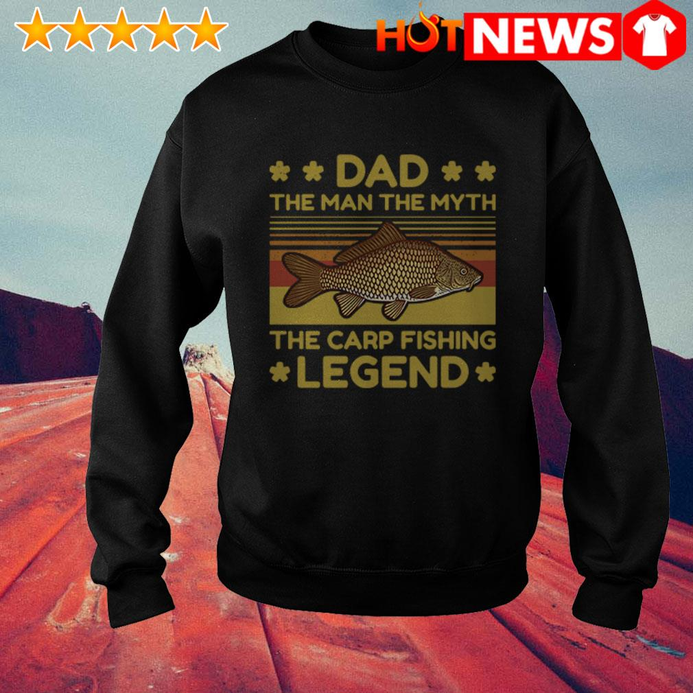 Vintage The carp fishing legend Dad the man the myth Sweater