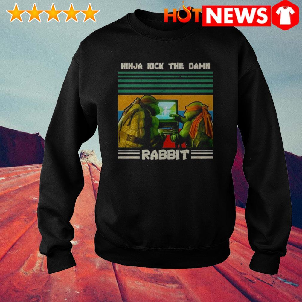 Vintage Ninja Turtles ninja kick the damn rabbit Sweater