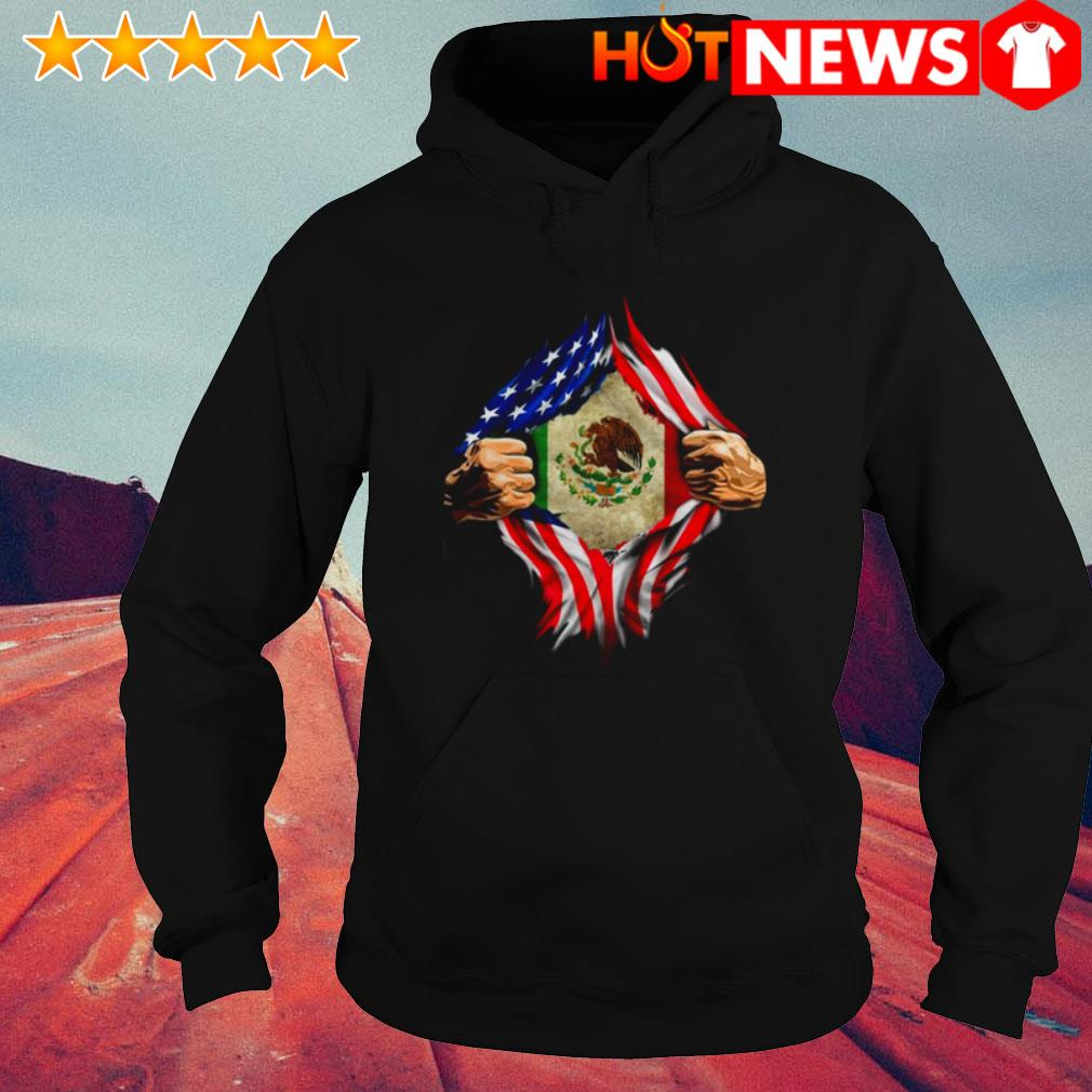 American Mexican Flag and blood inside me Hoodie