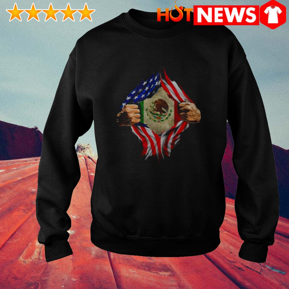 American Mexican Flag and blood inside me Sweater
