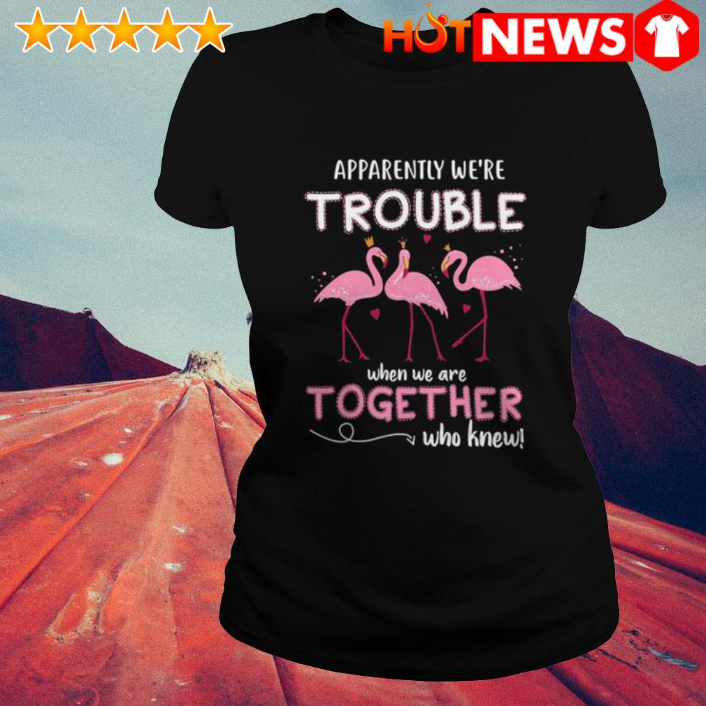 Apparently we're trouble when we are together who knew Flamingos Ladies Tee