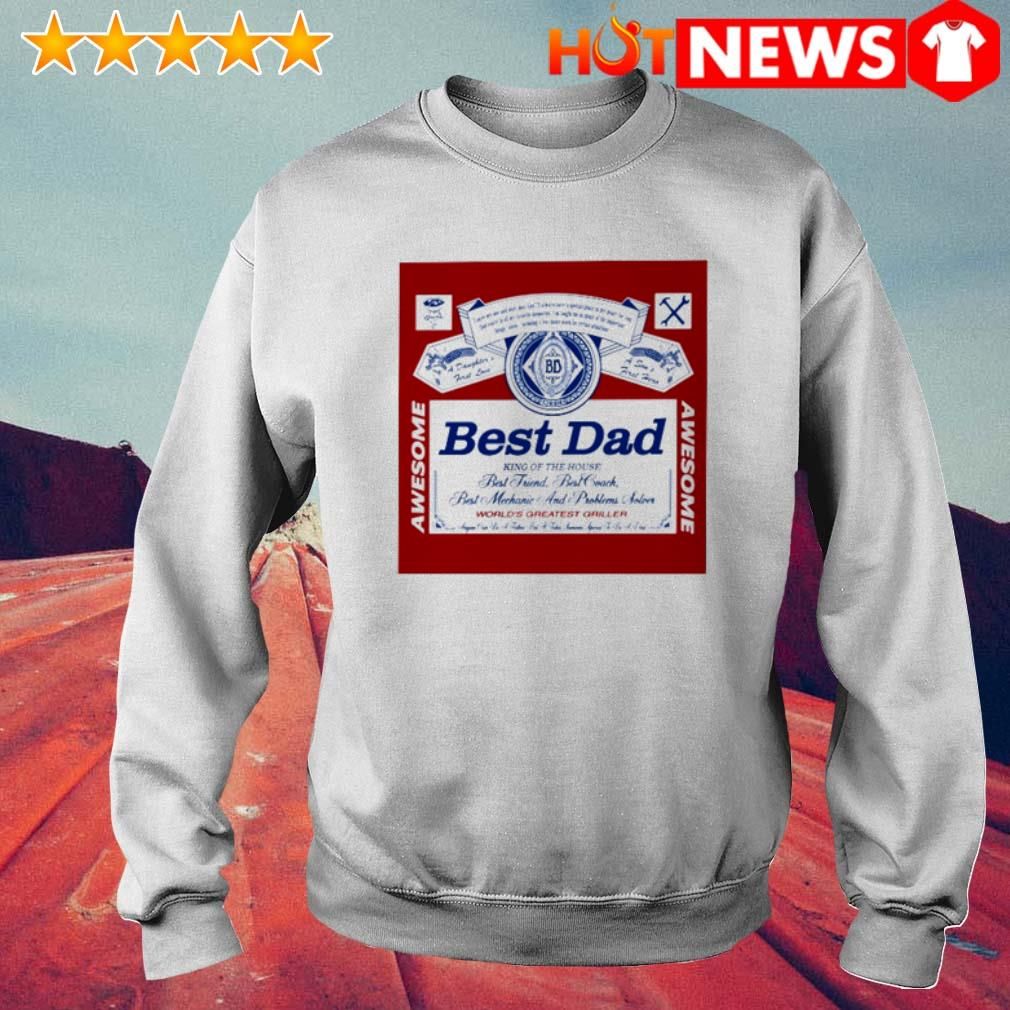 Best dad king of the house world's greatest griller Budweiser father's day Sweater