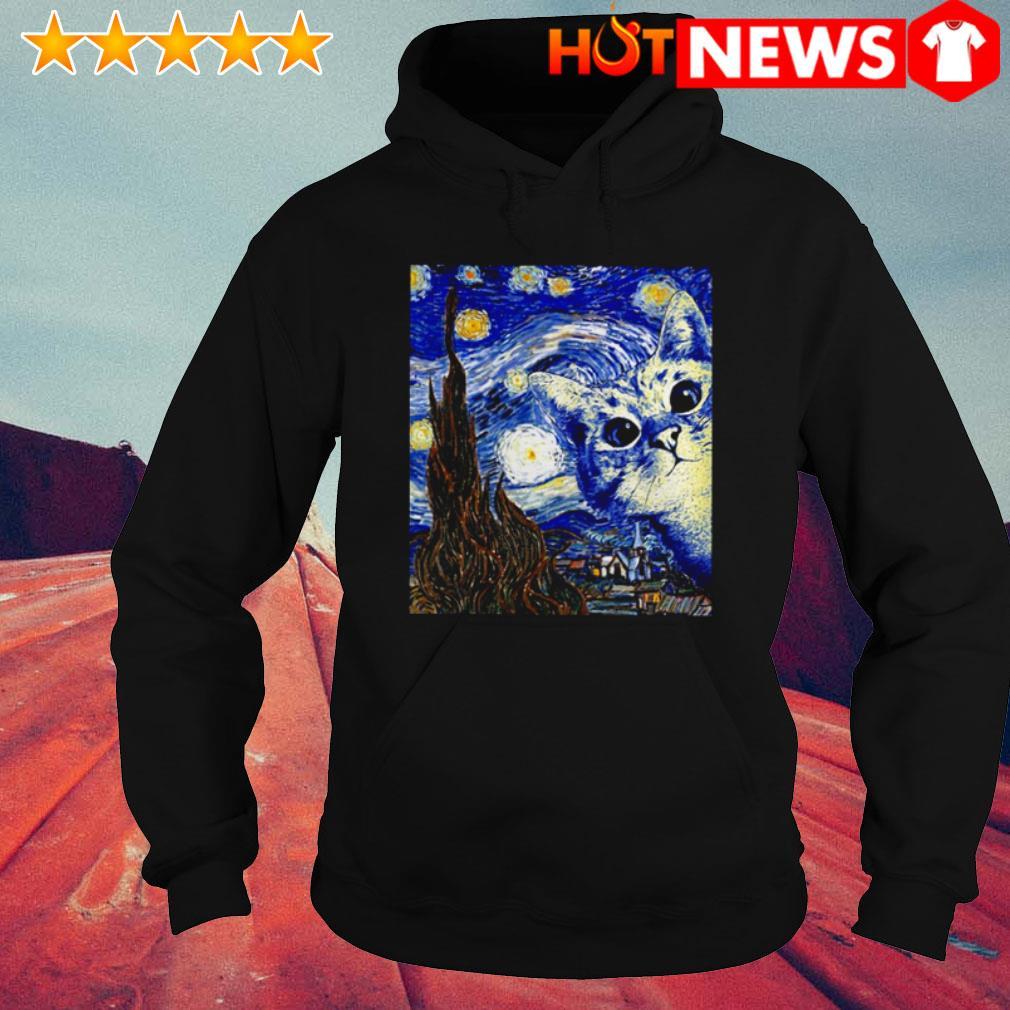 Cat Starry Night Van Gogh Hoodie