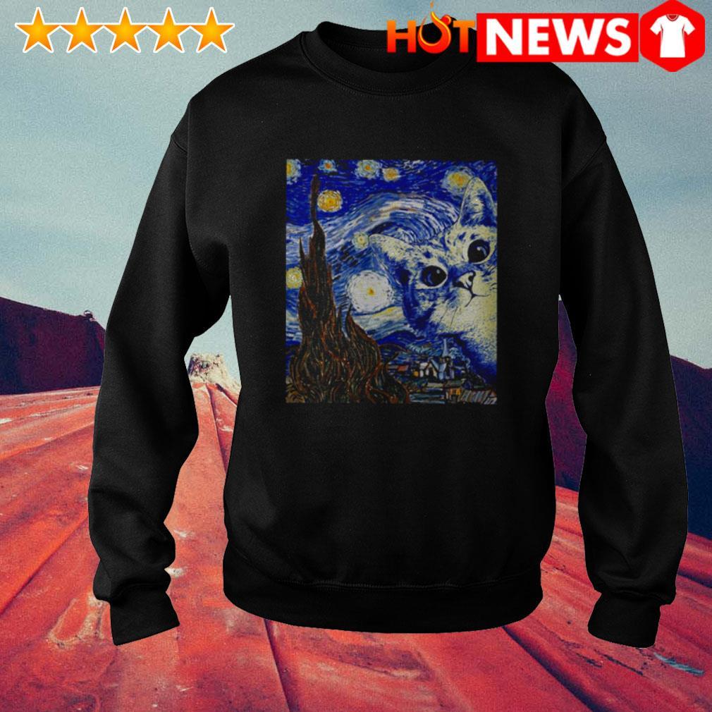 Cat Starry Night Van Gogh Sweater