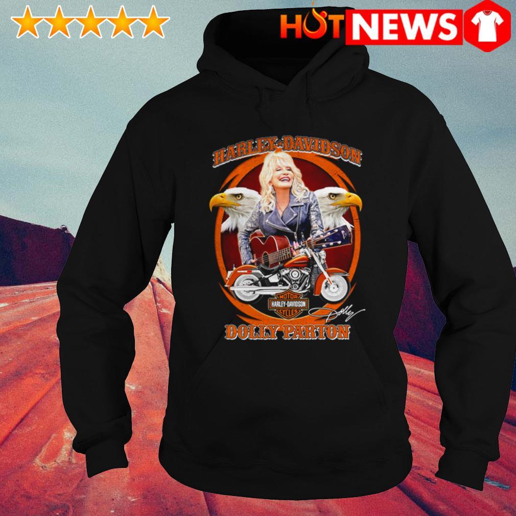 Dolly Parton play guitar Motor Harley-Davidson Cycles signature Hoodie