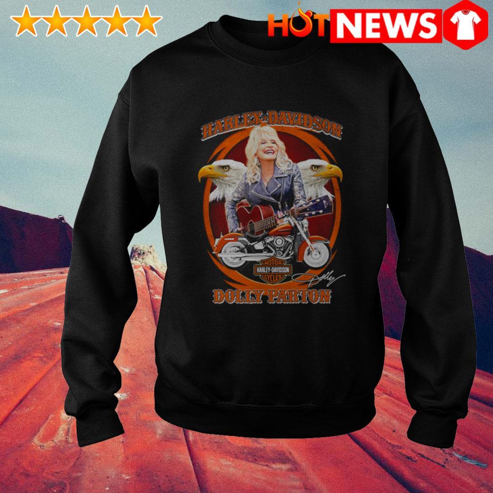 Dolly Parton play guitar Motor Harley-Davidson Cycles signature Sweater