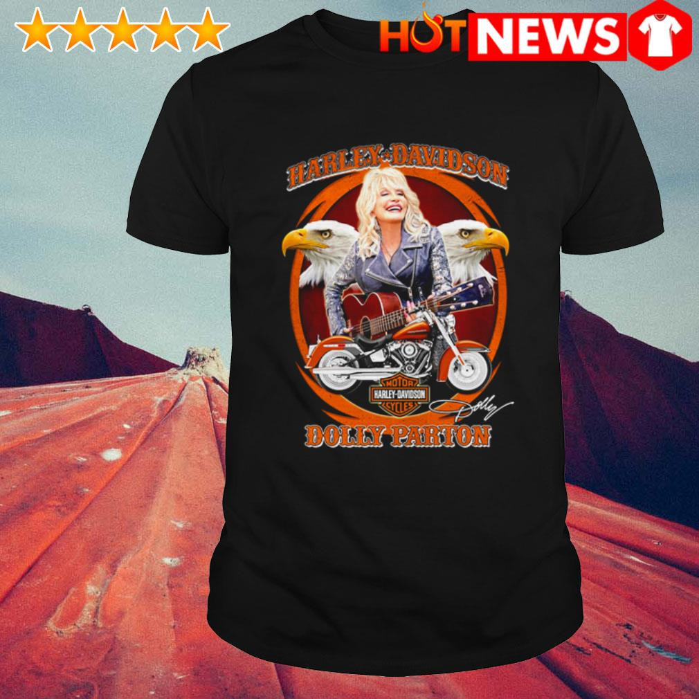 Dolly Parton play guitar Motor Harley-Davidson Cycles signature shirt