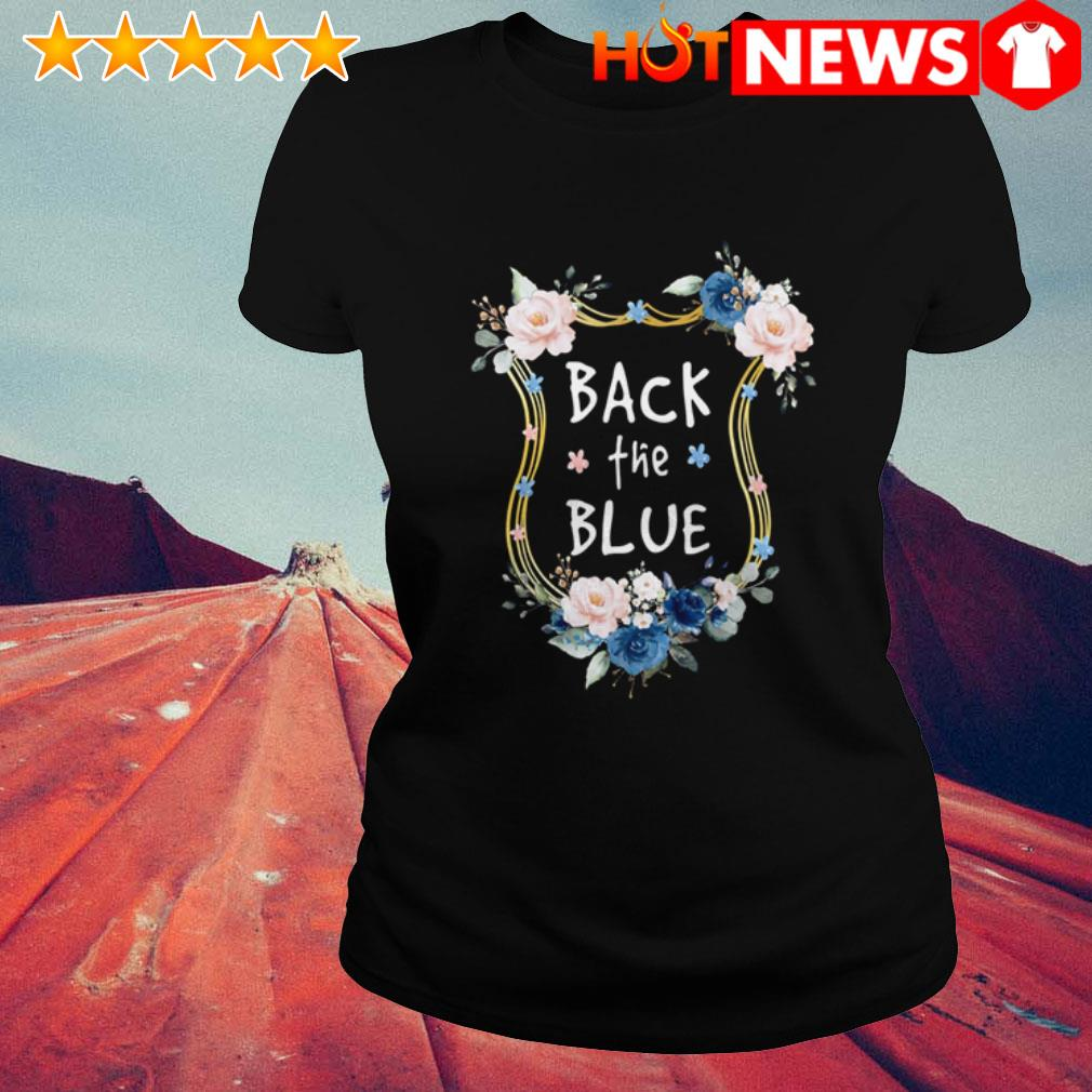 Gary Moore Back the blues Flowers Ladies Tee