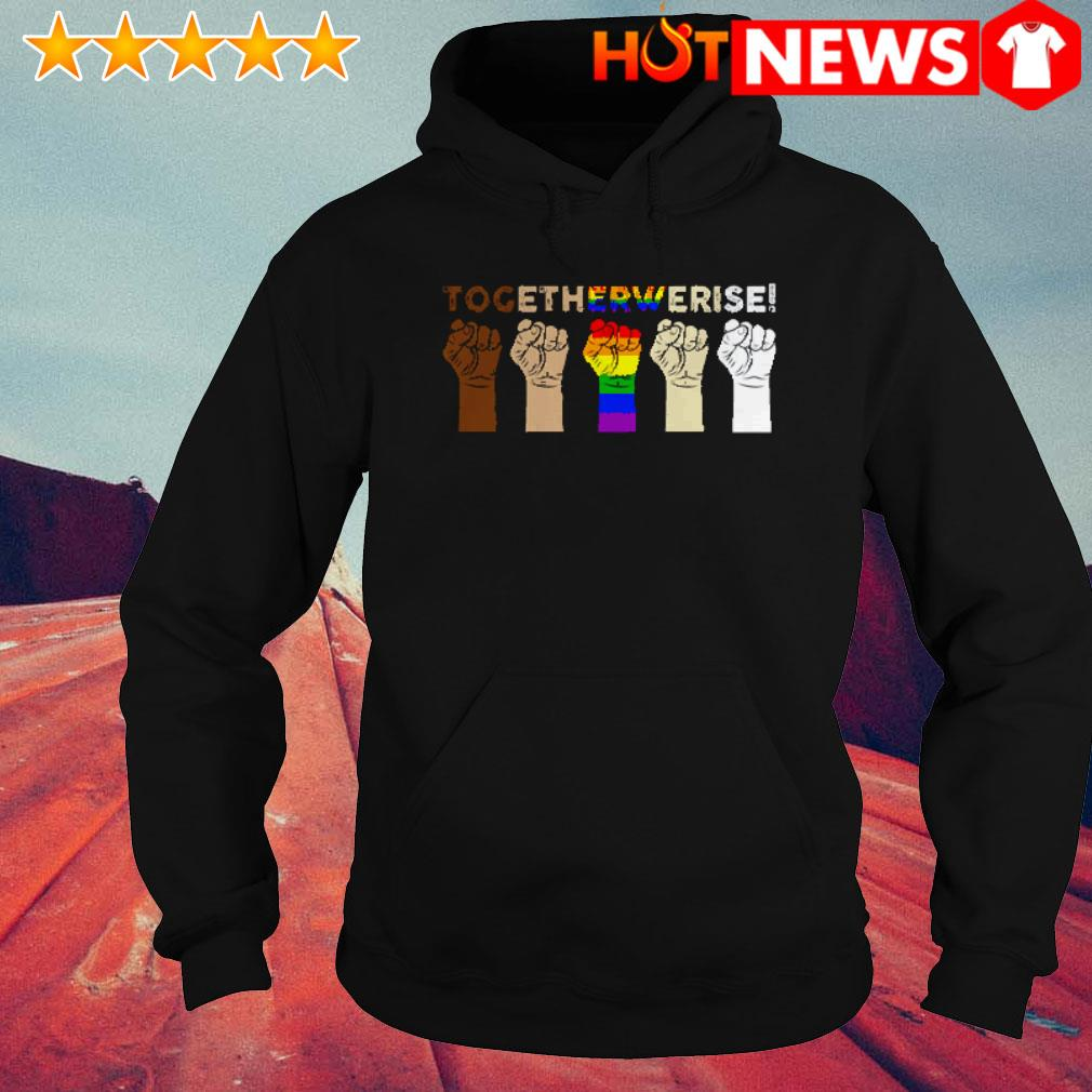 Hands together we rise LGBT Hoodie