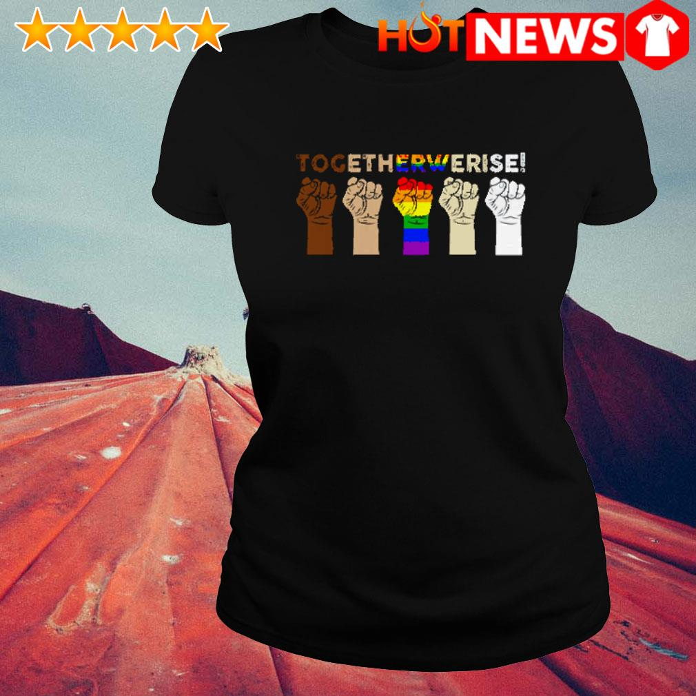 Hands together we rise LGBT Ladies Tee