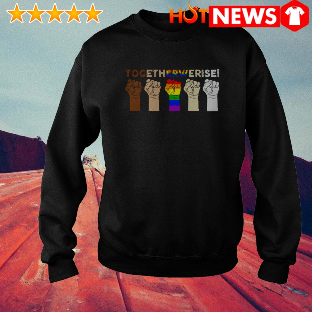 Hands together we rise LGBT Sweater