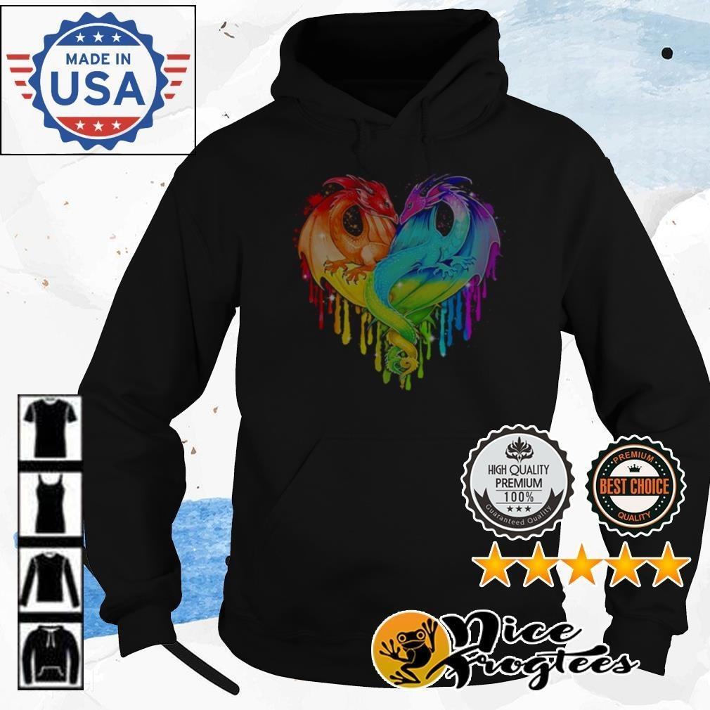 Heart LGBT Pride Dragon Hoodie