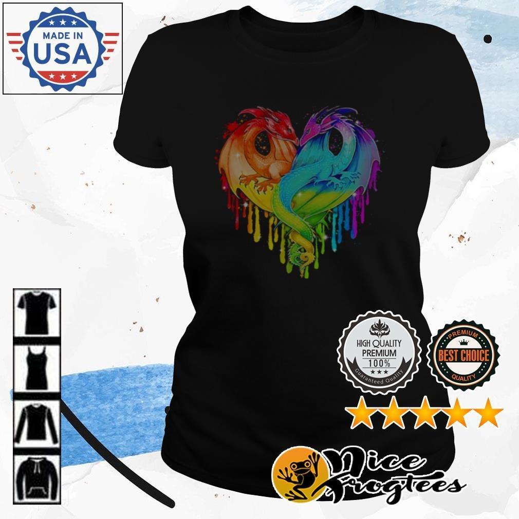 Heart LGBT Pride Dragon Ladies Tee