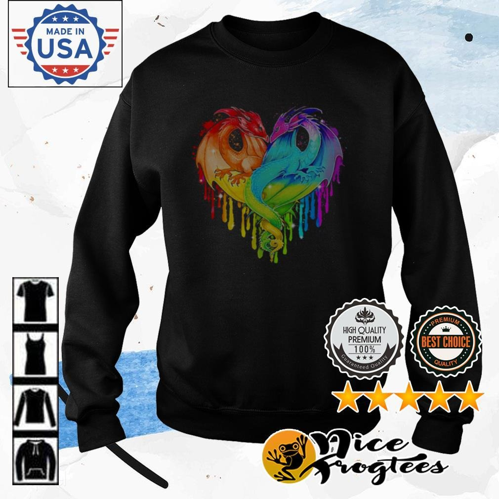 Heart LGBT Pride Dragon Sweater