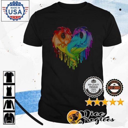Heart LGBT Pride Dragon shirt
