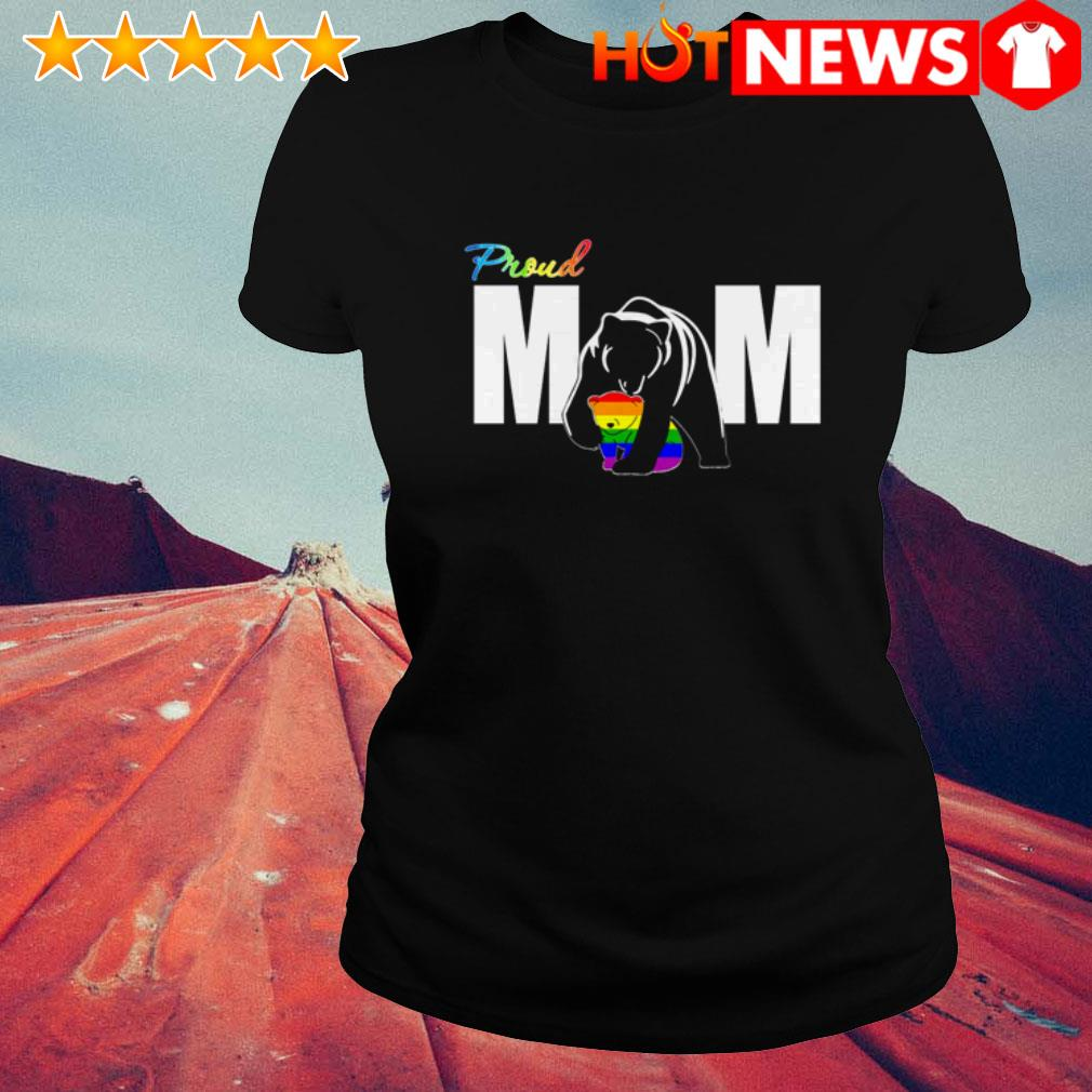 LGBT Bear Proud mom Mother's day Ladies Tee