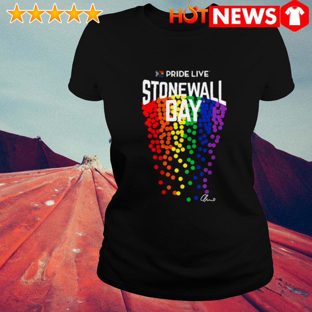 LGBT Gay Pride live stonewall day Ladies Tee
