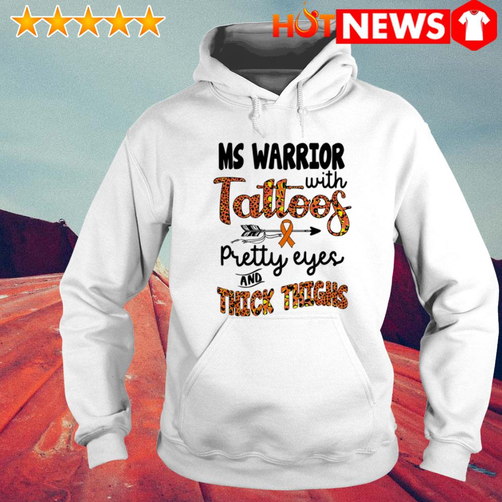 Ms Warrior with tattoos pretty eyes and thick thighs leopard Hoodie