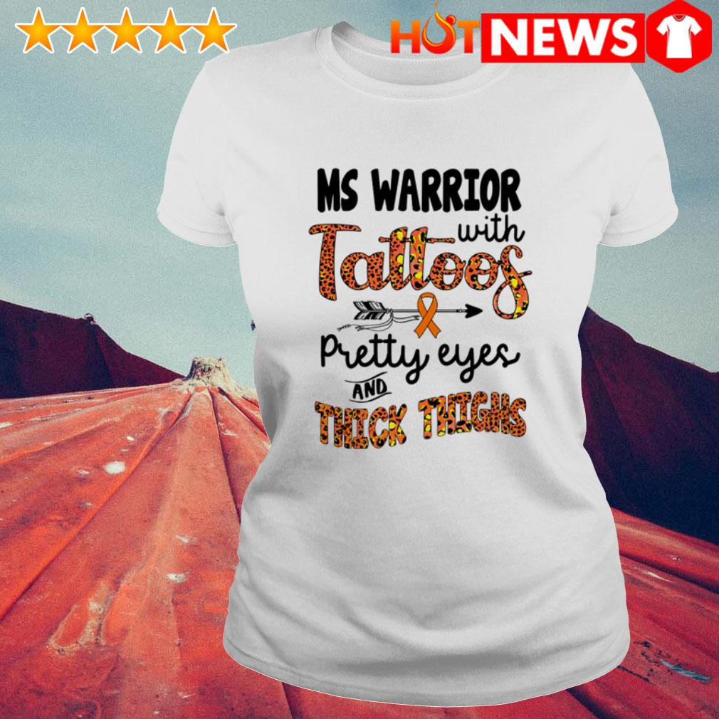 Ms Warrior with tattoos pretty eyes and thick thighs leopard Ladies Tee